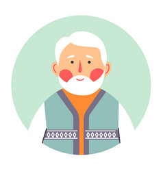 Portrait senior male character grandfather vector