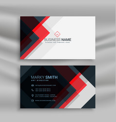 red and black creative business card template vector image