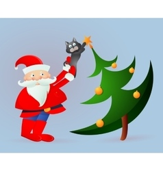 Santa Claus on greeting card vector image