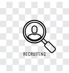Searching The Profile vector image