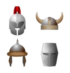 set medieval viking knight horned coppergate vector image