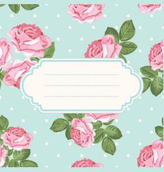 shabby chic rose seamless pattern on polka dot vector image