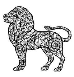 Stylized lion zentangle vector