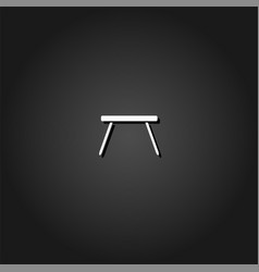 table icon flat vector image