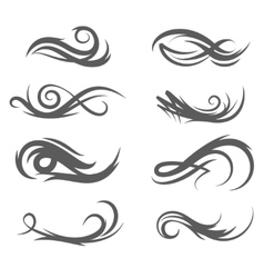 Tattoo style flourishes vector