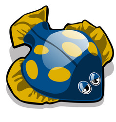 toy in the form of the fish flounder isolated on vector image
