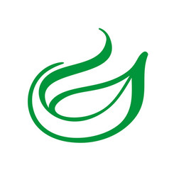 tree logo of green leaf of tea ecology nature vector image
