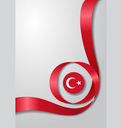 Turkish flag wavy background vector