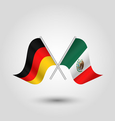 Two crossed german and mexican flags vector