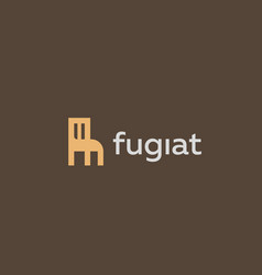 universal furniture logotype interior design logo vector image