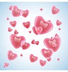 velentines hearts vector image