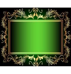 Vintage green Floral Frame vector image