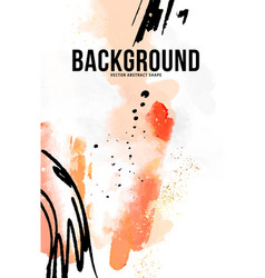 watercolor painting ink minimalistic hipster vector image