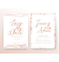 Wedding invitation card vector