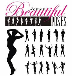 woman silhouettes illustration vector image