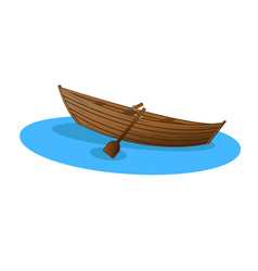 Wooden boat vector