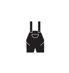 work overall black concept icon work vector image