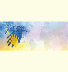 World down syndrome day banner design vector