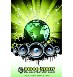 world sound disco vector image