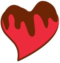 Chocolate Covered Heart vector image vector image