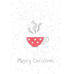 christmas cup hand drawn elements for your vector image