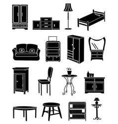 Furniture icons set vector image vector image