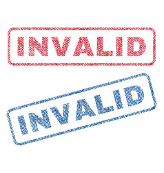 Invalid textile stamps vector