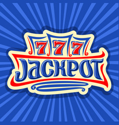 poster for jackpot theme vector image