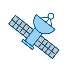 satellite universe antenna vector image