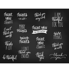 Thank you Family Positive quote lettering set vector image vector image