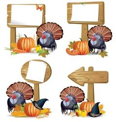 Thanksgiving turkey board vector image