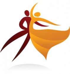 dancing people silhouettes vector image vector image