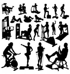 fitness women vector image