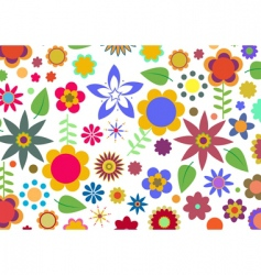 funky floral pattern vector image vector image