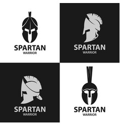 helmets spartan warriors icon vector image