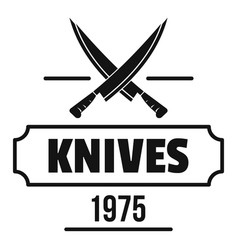 knife logo simple black style vector image vector image