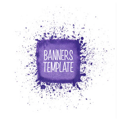 purple watercolor square vector image