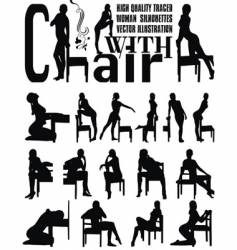woman sexy silhouettes vector image vector image