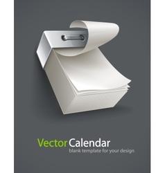 blank tear-off paper calendar vector image