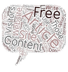 Free Article Content Explained text background vector image vector image