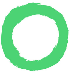 green brushstroke circular shape vector image