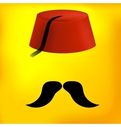 Red Turkish Hat vector image vector image