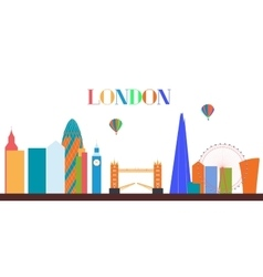 UK Silhouette London city background vector image vector image