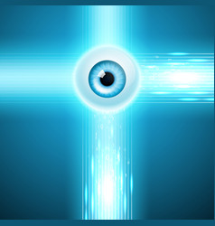Abstract background with eye vector