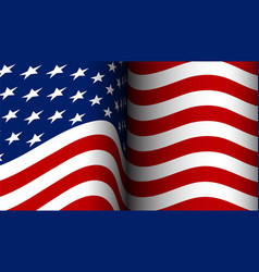 american flag flowing in the wind vector image