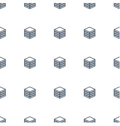 Archive icon pattern seamless white background vector