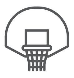Basketball hoop line icon game and sport vector