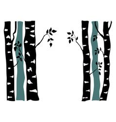 birch vector image