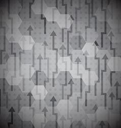 black arrows seamless pattern vector image vector image