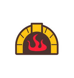 burn pizza and food logo icon design vector image